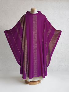 Beaulieux Woven Chasuble in Purple