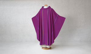 Salerno Woven Chasuble in Purple