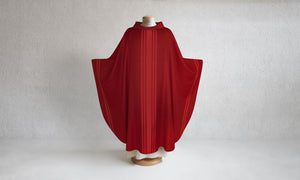 Paulas Woven Chasuble in Red