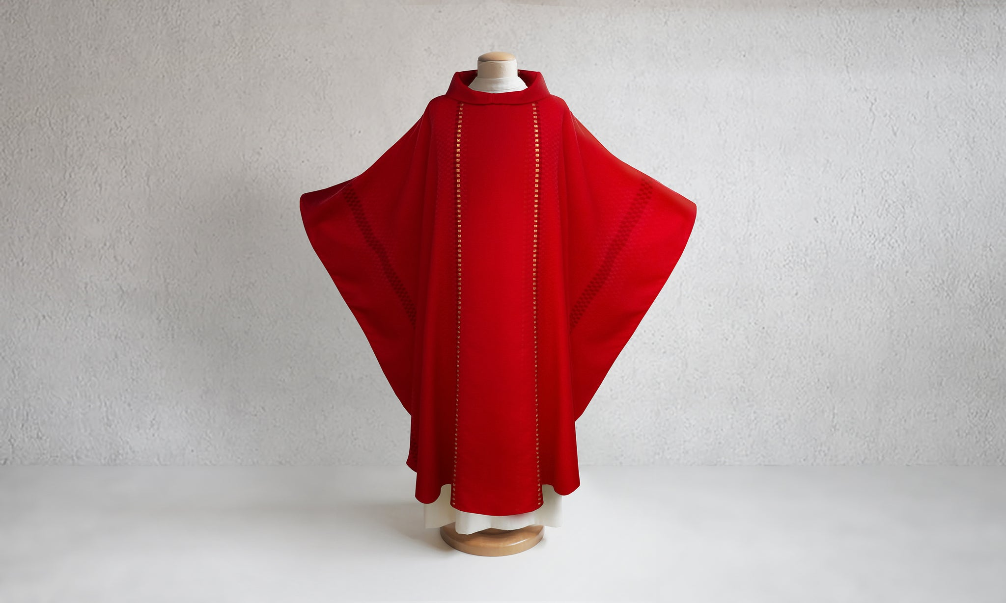 Salerno Woven Chasuble in Red