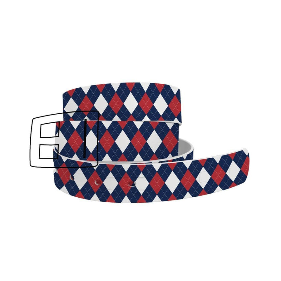 Boston Red Sox Argyle Team Spirit Belt Belt-Classic C4 BELTS