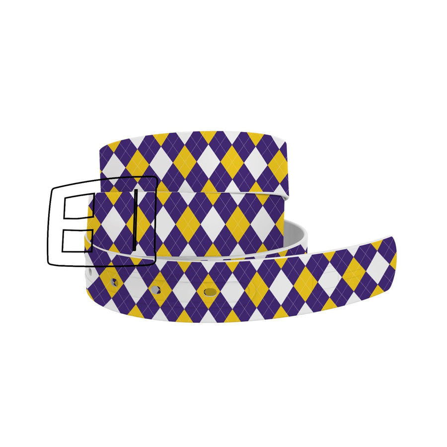 Louisiana State University Argyle Team Spirit Belt Belt-Classic C4 BELTS