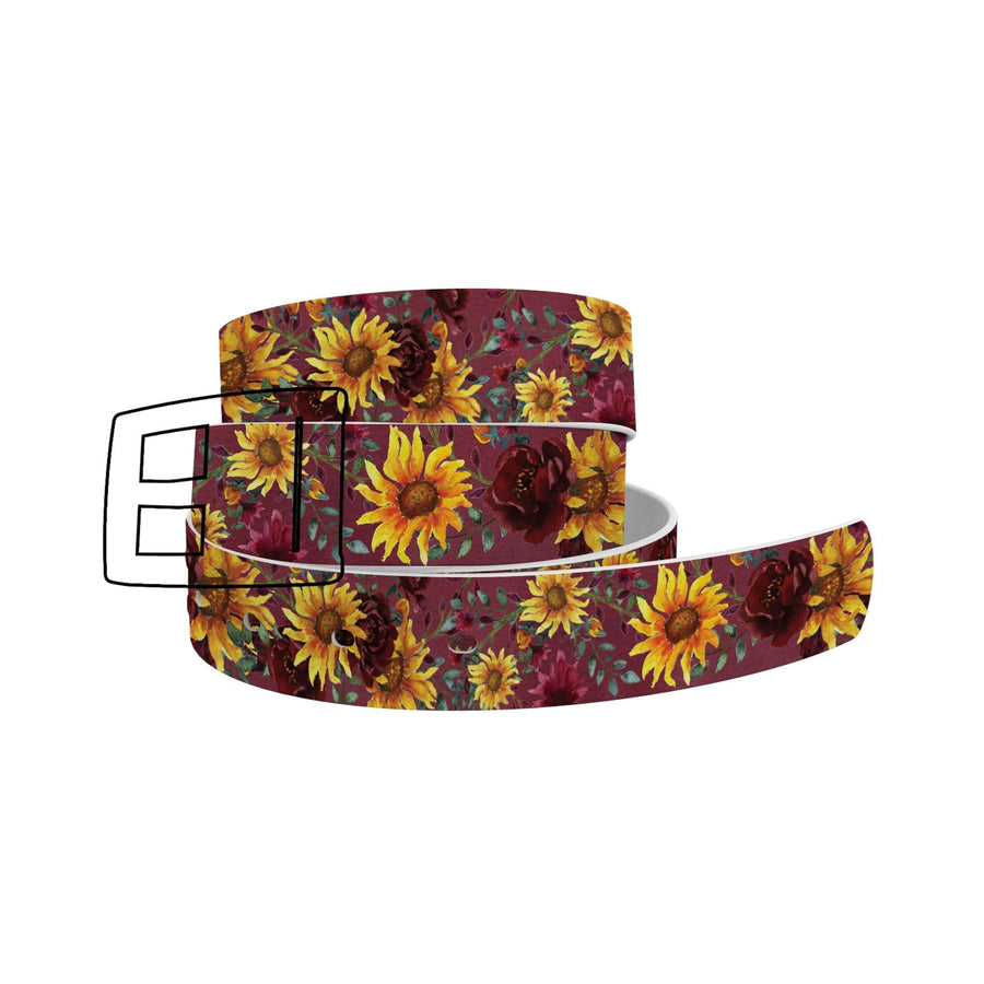 Merlot Sunflowers Belt Belt-Classic C4 BELTS