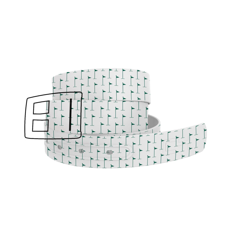 Hole In One White Tee Belt Belt-Classic C4 BELTS