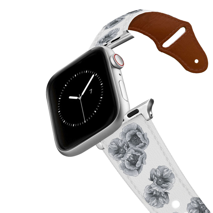 Decidedly Equestrian - Peony White Leather Apple Watch Band Apple Watch Band - Leather C4 BELTS