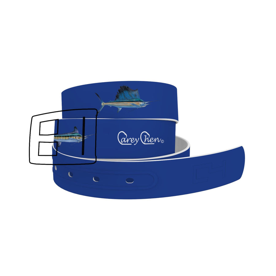 Carey Chen - Bio Series Billfish Grand Slam Navy Belt Belt-Classic C4 BELTS
