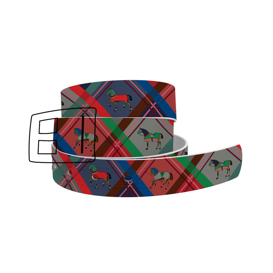 Horse on the L O O S E - Plaid Belt Belt-Classic C4 BELTS