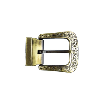 Engraved Bronze Metal Buckle Buckle-Classic C4 BELTS