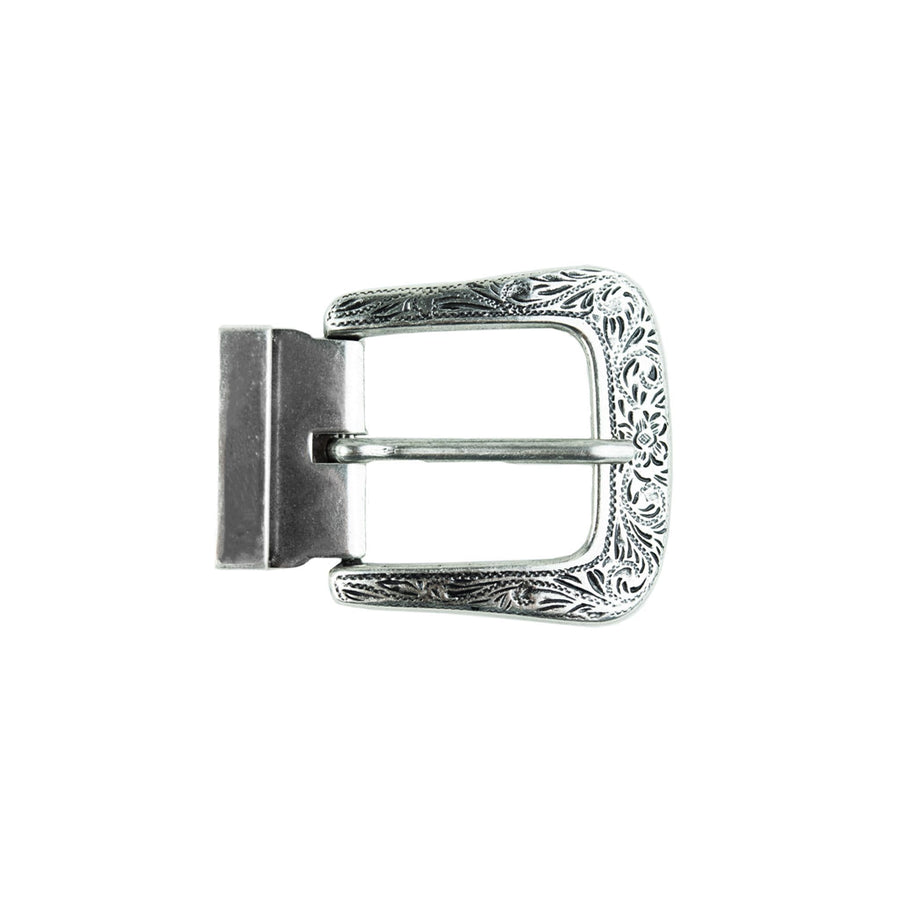 Engraved Silver Metal Buckle Buckle-Classic C4 BELTS