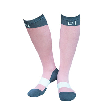 High Performance Riding Socks - Dusty Rose & Grey socks C4 BELTS