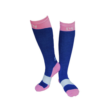 High Performance Riding Socks - Navy & Pink socks C4 BELTS