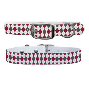 University of Alabama Argyle Team Spirit Dog Collar Dog Collar C4 BELTS