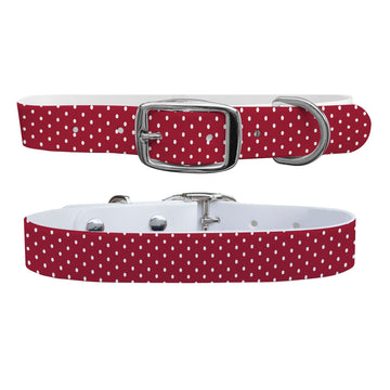 Alabama Team Spirit Polka Dot Dog Collar Dog Collar C4 BELTS
