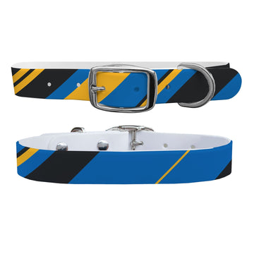 Golden State Warriors Color Block Gameday Dog Collar Dog Collar C4 BELTS