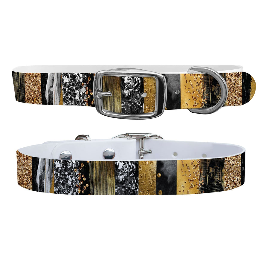 Gold Strokes Dog Collar Dog Collar C4 BELTS