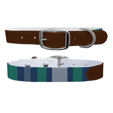 Golf Plaid Dog Collar