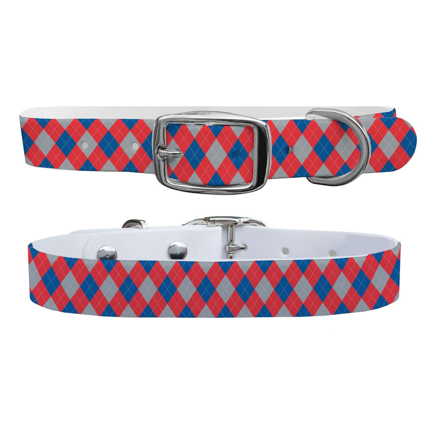 LA Dodgers Argyle Team Spirit Dog Collar Dog Collar C4 BELTS