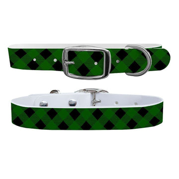 Lumberjack Forest Green Dog Collar Dog Collar C4 BELTS