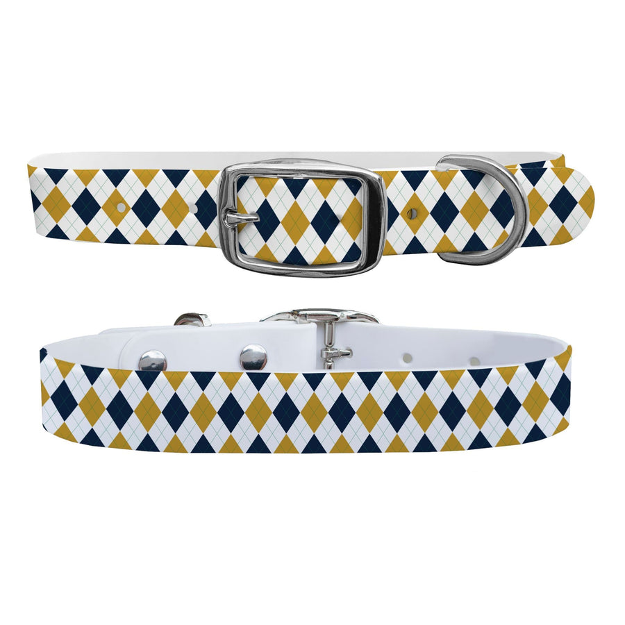 University of Notre Dame Argyle Team Spirit Dog Collar Dog Collar C4 BELTS