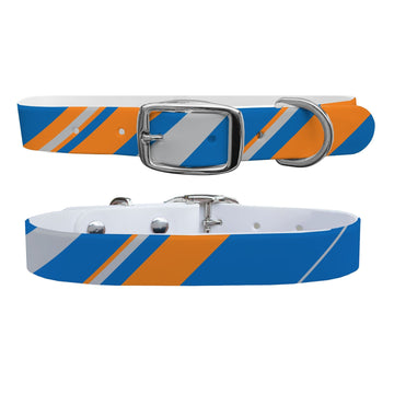 New York Knicks Color Block Team Spirit Dog Collar Dog Collar C4 BELTS
