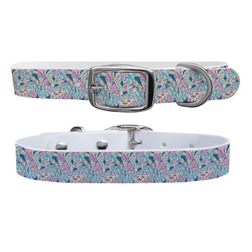 Pastel Palms Dog Collar Dog Collar C4 BELTS