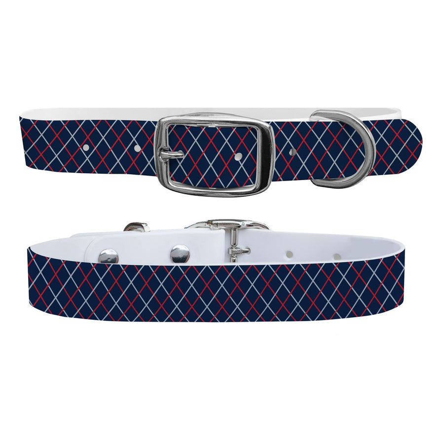 New England Team Spirit Grid Dog Collar Dog Collar C4 BELTS