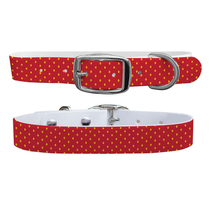 Kansas City Team Spirit Polka Dot Dog Collar Dog Collar C4 BELTS