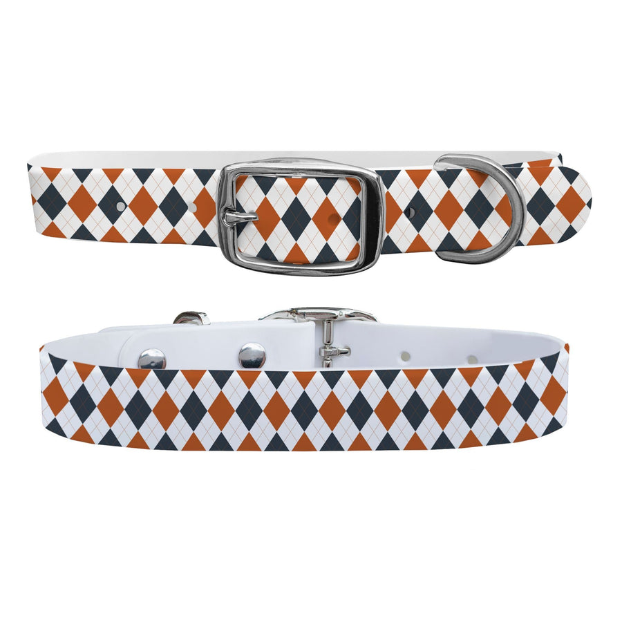 University of Texas Argyle Team Spirit Dog Collar Dog Collar C4 BELTS