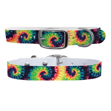 Sunset Tie Dye Dog Collar Dog Collar C4 BELTS