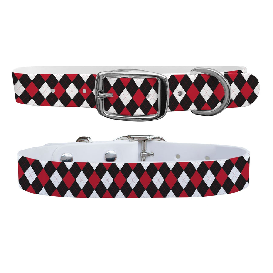 University of Wisconsin Argyle Team Spirit Dog Collar Dog Collar C4 BELTS