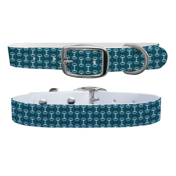 Bits Teal Dog Collar Dog Collar C4 BELTS