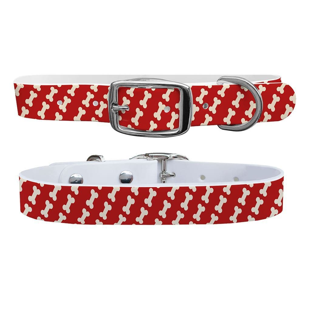 Bones Red Dog Collar Dog Collar C4 BELTS