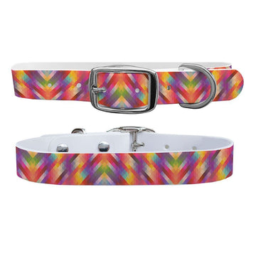Bright Geometric Dog Collar Dog Collar C4 BELTS