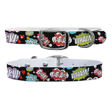 Comic Words Dog Collar Dog Collar C4 BELTS