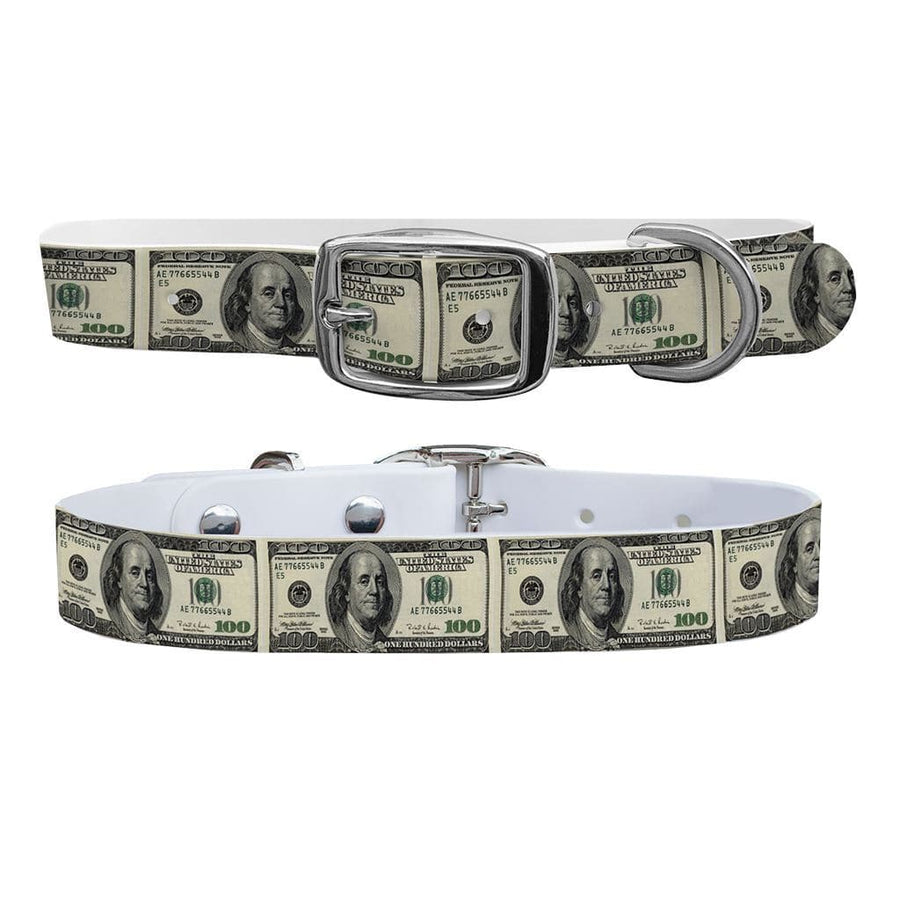 100 Dollar Bill Dog Collar Dog Collar C4 BELTS