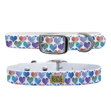 Rescue Blue Dog Collar Dog Collar C4 BELTS