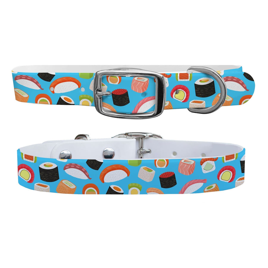 Roll With It Blue Dog Collar Dog Collar C4 BELTS