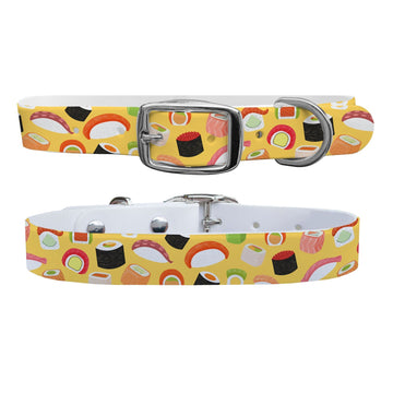 Roll With It Yellow Dog Collar Dog Collar C4 BELTS