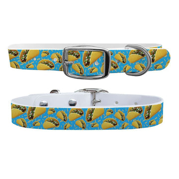 Tacos Blue Dog Collar Dog Collar C4 BELTS