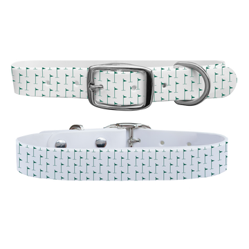 Hole in One - White Dog Collar