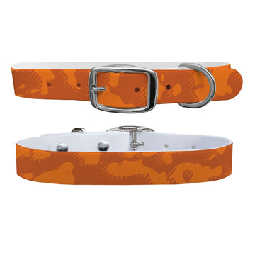 Hunter Orange Camo Dog Collar Dog Collar C4 BELTS