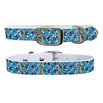Mermaid Bubbles Dog Collar Dog Collar C4 BELTS