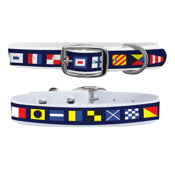 Nautical Flags Dog Collar Dog Collar C4 BELTS
