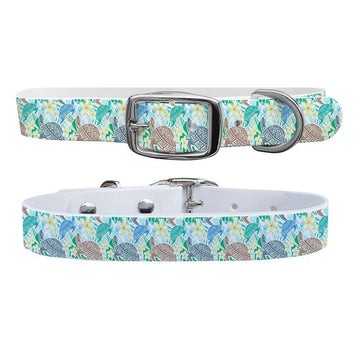 Sea Turtles Green Dog Collar Dog Collar C4 BELTS