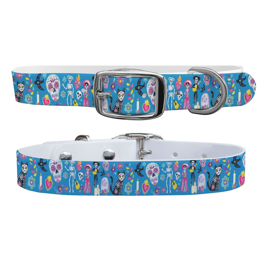 Day of the Dead Dog Collar Dog Collar C4 BELTS