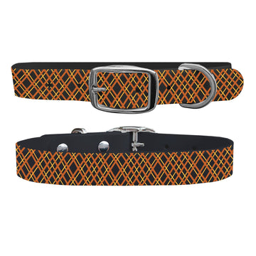 Halloween Plaid Black Dog Collar Dog Collar C4 BELTS