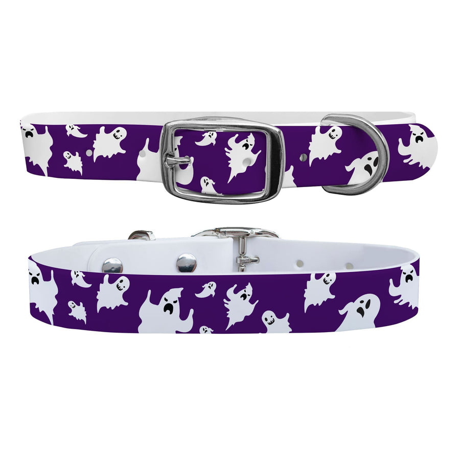 Purple Ghosts Dog Collar Dog Collar C4 BELTS