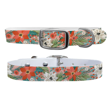 Pretty Poinsettia Dog Collar Dog Collar C4 BELTS