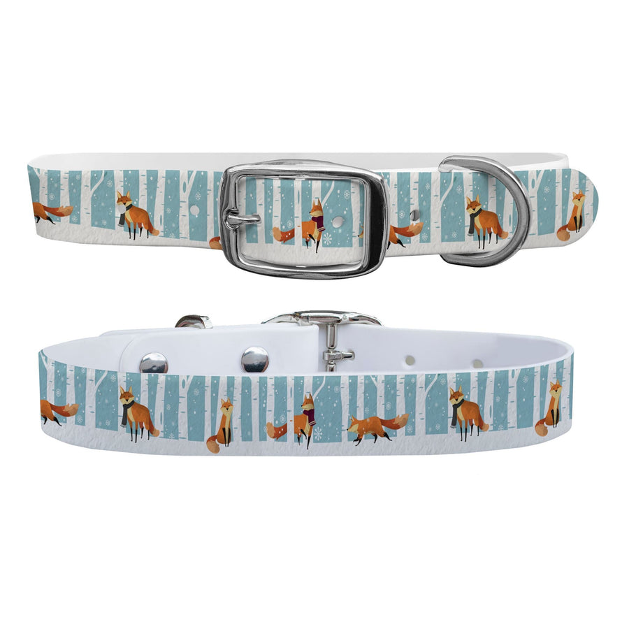 Snowy Foxes Collar Dog Collar C4 BELTS