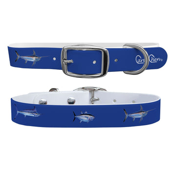 Carey Chen - Bio Series Game Fish Grand Slam Navy Dog Collar Dog Collar C4 BELTS